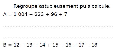 Calculer astucieusement : exercices en CM2.