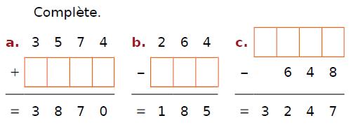 Calculer des additions et soustractions : exercices en CM2.