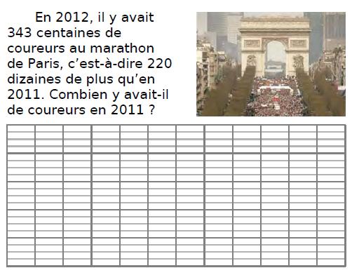 Les coureurs de marathon : exercices en CM2.