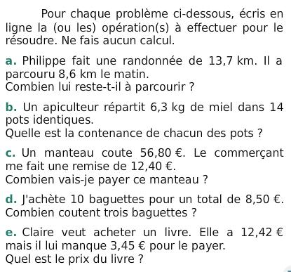 Problemes Et Calculs Exercices De Maths 6eme Sixieme A Imprimer Et Telecharger En Pdf