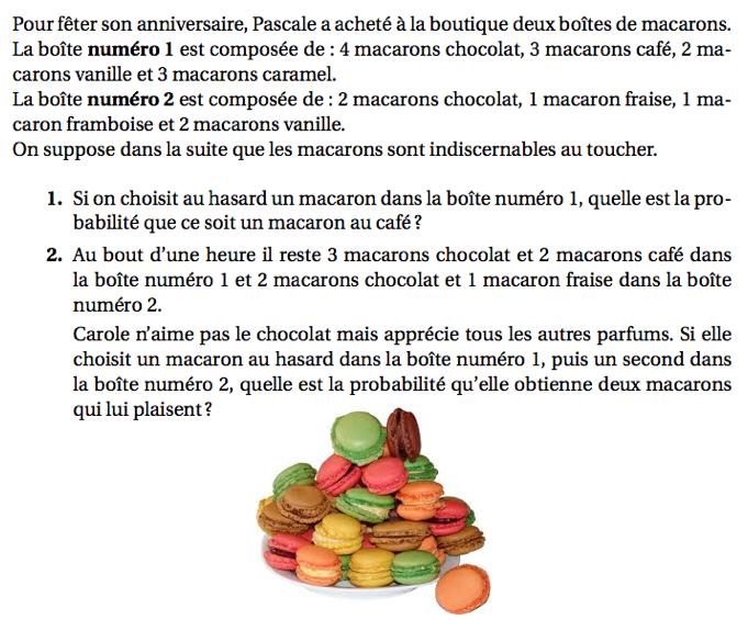 Macarons et probabilité : exercices en 3ème.
