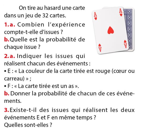 Hasard et jeu de cartes : exercices en 3ème.