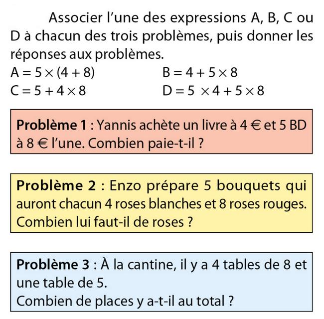 Les priorités opératoires : exercices de maths 5ème ...
