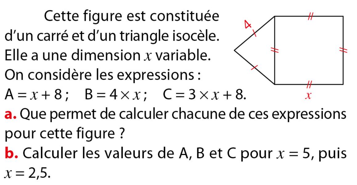 Géométrie et calcul littéral : exercices en 5ème.