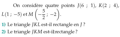 Le triangle est-il rectangle? : exercices en 1ère S.