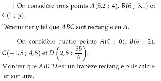 Montrer que ABCD est un trapèze rectangle : exercices en 1ère S.