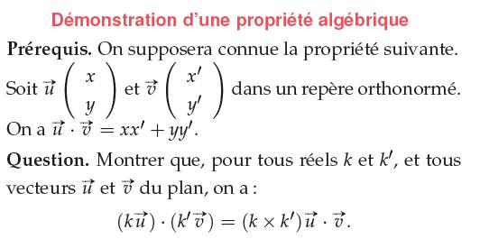 Démonstration d'une propriété algébrique : exercices en 1ère S.