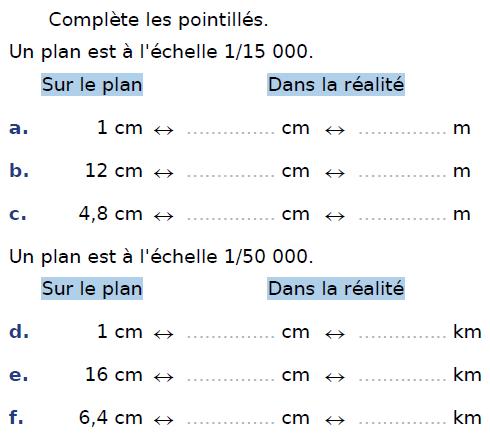 Plan à l'échelle et proportionnalité : exercices en CM2.