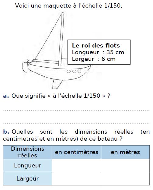 Maquette à l'échelle et proportionnalité : exercices en CM2.