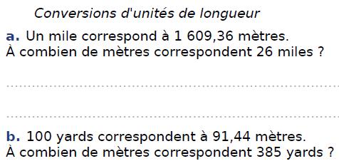 Conversions d'unités de longueur : exercices en CM2.