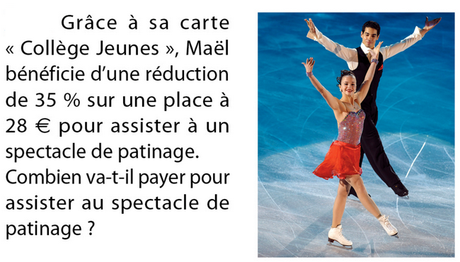 Spectacle de patinage : exercices en 5ème.