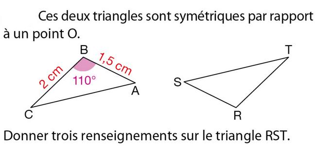 Les propriétés de la symétrie centrale : exercices en 5ème.