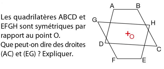 Utiliser les propriétés de la symétrie : exercices en 5ème.