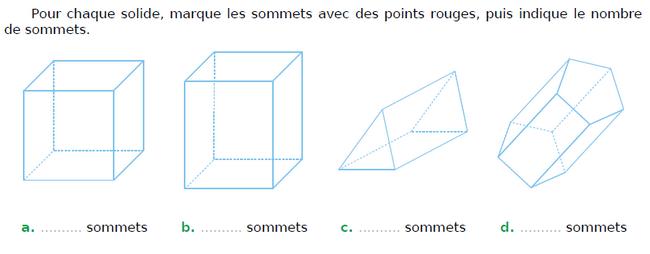 Cubes et prismes droits : exercices en CM1.