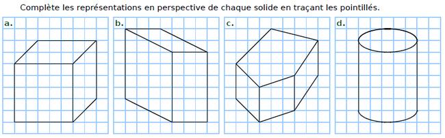 Compléter les perspectives cavalières : exercices en CM2.