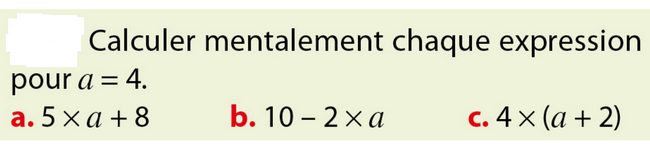 Calcul mental : exercices en 5ème.