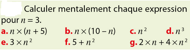 Calculer mentalement : exercices en 5ème.