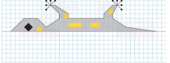 Tracer le symétrique de la figure : exercices en CM1.