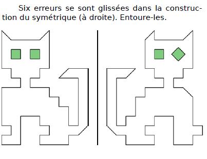 Trouver les erreurs glissés : exercices en CM2.