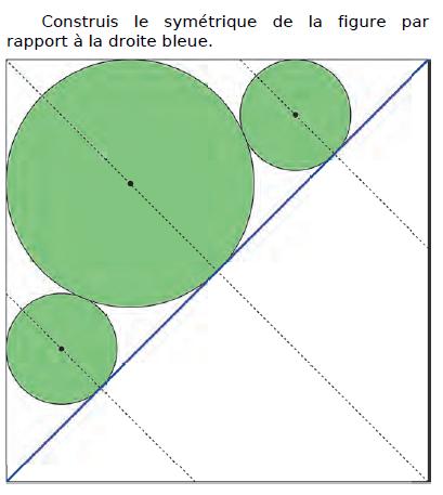 Construction du symétrique de la figure : exercices en CM2.