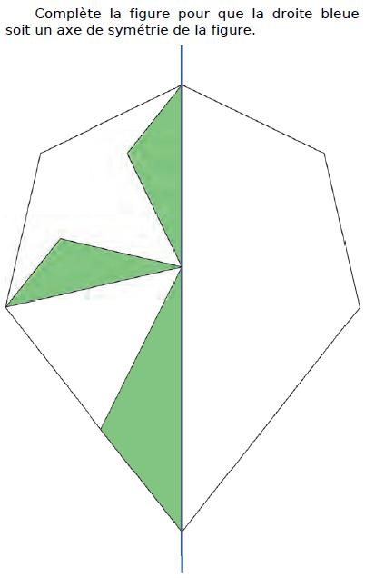 Compléter la figure et axe de symétrie : exercices en CM2.