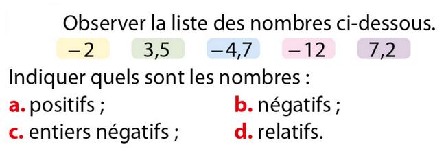 Quel type de nombre ? : exercices en 5ème.