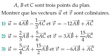 Vecteurs et droites du plan : exercices de maths 1ère S (première S) à imprimer et télécharger ...