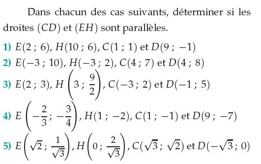 Montrer que des droites sont parallèles : exercices en 1ère S.