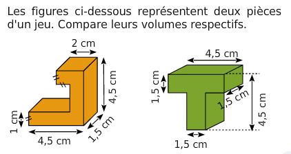 Comparer des volumes : exercices en 6ème.