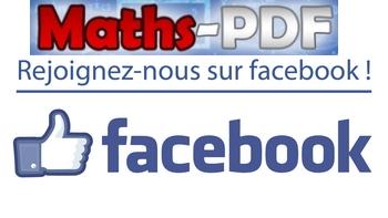Suivez Maths PDF sur facebook