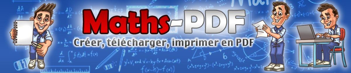 Créer, télécharger et imprimer des exercices de maths en PDF