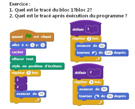 Programme avec des blocs