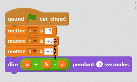 programme avec trois nombres
