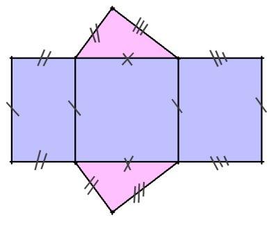 patron prisme droit base triangulaire