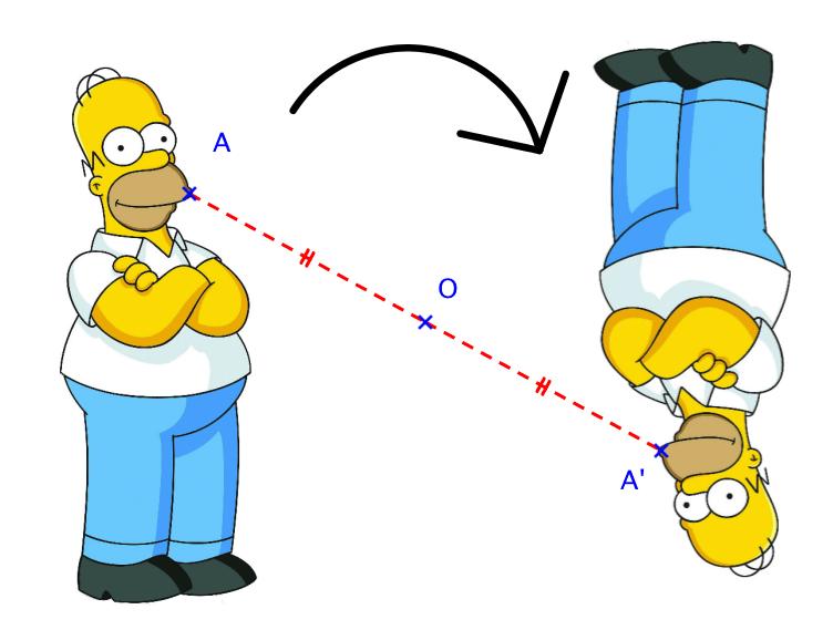 symétrie centrale demi-tour