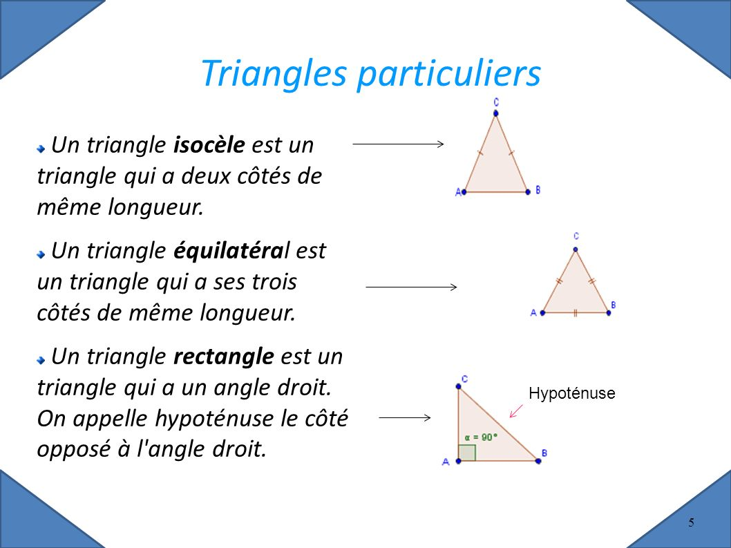 triangles particuliers