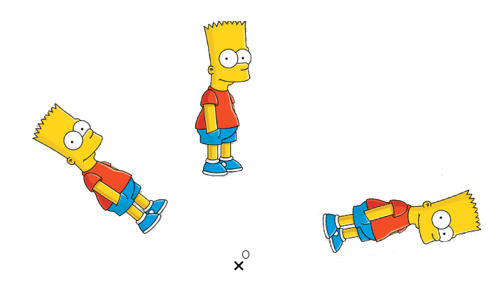 rotation Bart Simpson