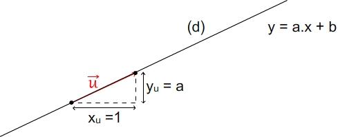 vecteur directeur droite équation