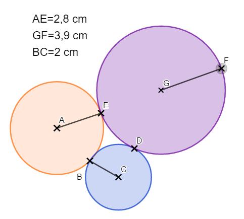 aire périmètre disque geogebra