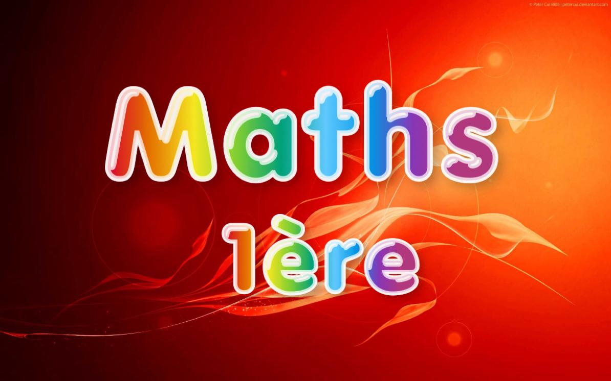 maths 1ere