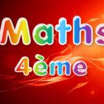 Maths 4ème : cours et exercices corrigés en PDF.